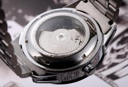 Ceas Tevise AUTOMATIC turbillon open heart, capac transparent, sport