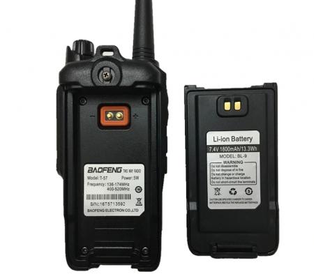 Statie Radio Walkie Talkie Baofeng T-57, ptr conditii extreme dual band 136-174 Mhz, 400-520 Mhz, 5W1