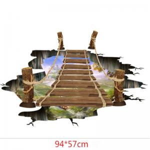 Sticker 3D pentru podea- Pod peste jungla - 57x94 cm2