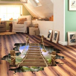 Sticker 3D pentru podea- Pod peste jungla - 57x94 cm1