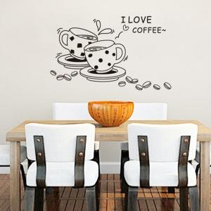 Autocolant bucatarie - Cesti de cafea0
