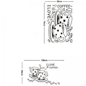 Autocolant bucatarie - Cesti de cafea3