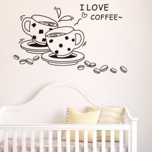Autocolant bucatarie - Cesti de cafea2