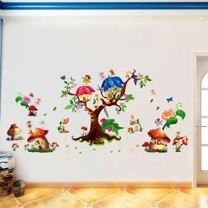Autocolant copii - Lumea zanelor - 140x65 cm