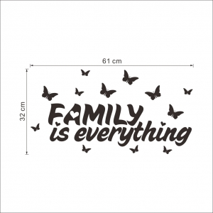 Autocolant cu text - Family is everything4
