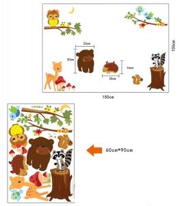 Autocolant de perete camere copii - Animalele padurii6