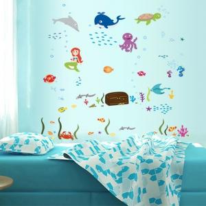 Autocolant decorativ camere copii - Lumea sirenei