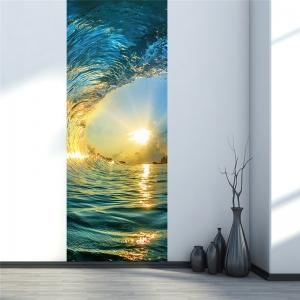 Autocolant usi interior - Valul marii - 2 folii de 38,5x200 cm