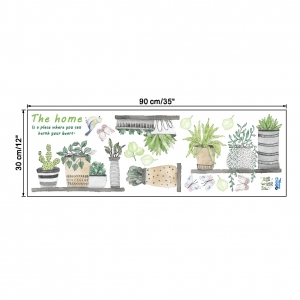 Stickere decorative - Rafturi cu plante - 60x65 cm