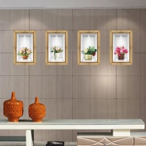 Stickere camera de zi - Aranajamente florale 3D - 122x44 cm0