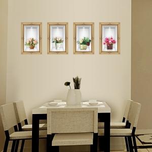 Stickere camera de zi - Aranajamente florale 3D - 122x44 cm4