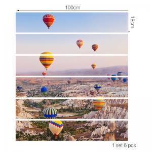 Autocolante scari - Baloane cu aer cald - 6 folii de 18x100 cm