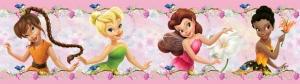 Sticker Brau roz cu flori si zane Diseny - Walt Disney