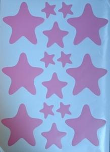 Decoratiuni camera bebe - Stelute  - Roz, Siclam