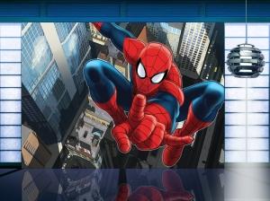 Fototapet Spiderman Deasupra Orasului