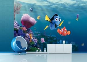 Fototapet Disney - Nemo si Dory in Recif