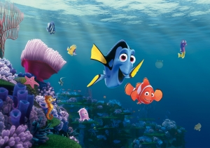 Fototapet Disney - Nemo si Dory in Recif0