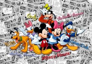 Fototapet Trupa lui Mickey Mouse