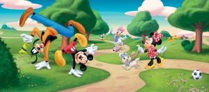 Fototapet Disney - Clubul lui Mickey Mouse in Parc