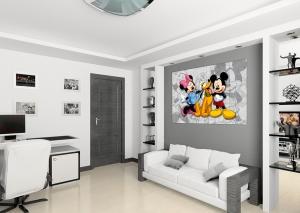 Fototapet Minnie, Mickey si Pluto