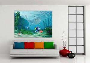 Fototapet Nemo, Dory si Rechinul Bruce1