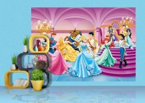 Fototapet Printese si Printi Disney