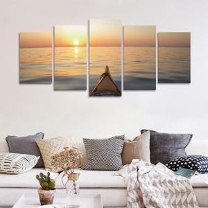 Set Tablouri Canvas - 5 piese - Apus - 113x56 cm