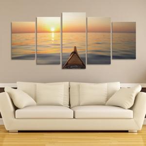 Set Tablouri Canvas - 5 piese - Apus - 133x60 cm