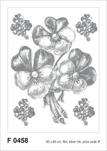 Sticker Panselute Argintii - Bunch Silver - 65X85cm - F0458