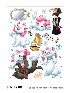 Sticker Pisicile aristocrate - Cats - 65X85cm - DK17081