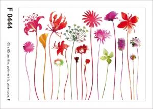 Sticker Flori Rosii - Red Nostalgia - 65X85cm - F0444