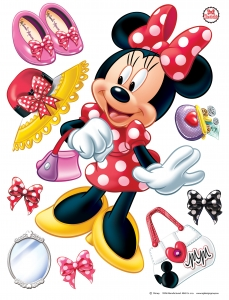 Sticker Minnie Mouse -  65x85cm  - DK1703