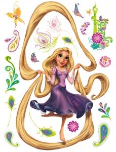 Sticker Rapunzel si Turnul - 65x85cm - DK863