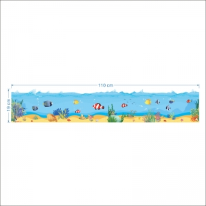 Sticker brauri decorative - Pesti in mare