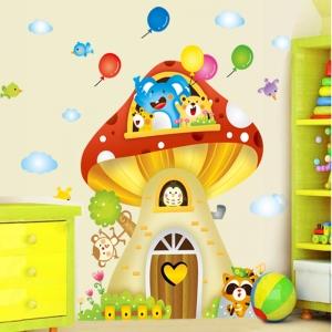 Sticker camere copii - Casuta din ciuperca