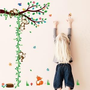 Sticker camere copii - Maimute in copac si pe liana