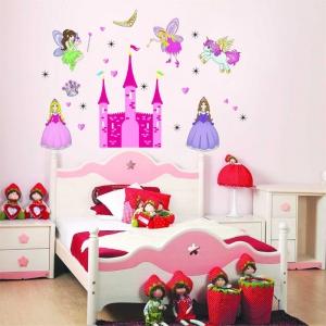 Sticker camere fetite- Castel cu printese