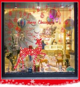 Sticker Craciun - Merry Christmas! - globuri si cadouri