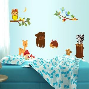 Autocolant de perete camere copii - Animalele padurii4