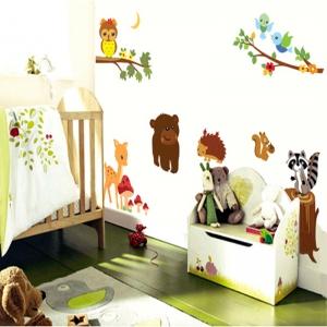 Autocolant de perete camere copii - Animalele padurii2