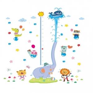 Sticker de perete camere copii - Grafic de crestere cu animale- masurator inaltime7