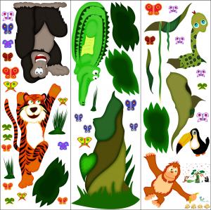 Sticker decorare camere copii - In jungla2