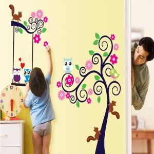 Sticker decorativ camera copii - Copac carliontat3