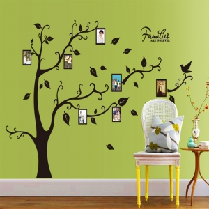 Sticker decorativ camera de zi - Families are forever (copac rame foto)