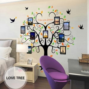 Sticker decorativ - Copacul iubirii cu rame foto2