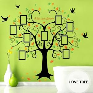 Sticker decorativ - Copacul iubirii cu rame foto3