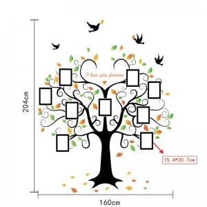 Sticker decorativ - Copacul iubirii cu rame foto