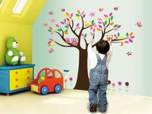 Sticker decorativ copii - Copacelul roz