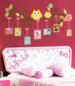 Sticker decorativ copii - Creanga cu rame foto