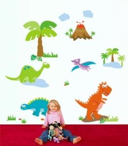 Sticker decorativ copii - Lumea dinozaurilor1